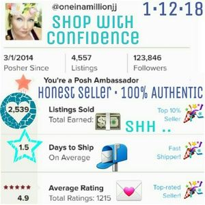 SHOP WITH CONFIDENCE - 100% AUTHENTIC ALWAYS
